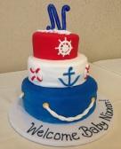 Baby Shower Sailor Cake