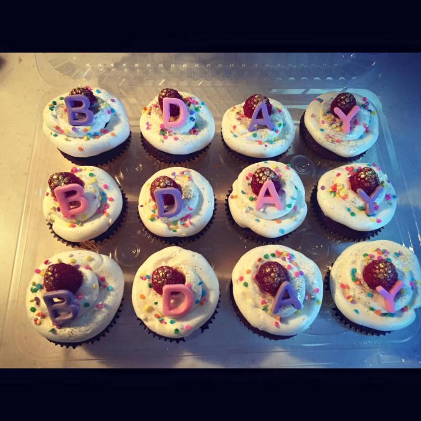 birthday cupackes